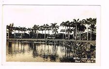 Waterfront Scene New Cristobal Panama Canal Zone Real Photo Postcard Unused 50s