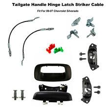 Rear Tailgate Handle Latch Striker Bolts Kit For 99-07 Chevrolet Sierra 15074253