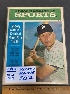 1963 JULY GREAT MOMENTS IN SPORTS MAGAZINE *MICKEY MANTLE* COVER NEWSSTAND (MS)