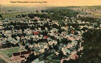 Vintage Postcard 1910's Upper Honesdale from Irving Cliff Town Scene