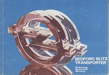 OPEL   BEDFORD BLITZ  Betriebsanleitung 1980 Bedienungsanleitung Handbuch    BA