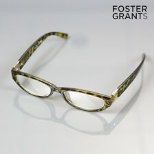 Genuine Foster Grant Reading Glasses + 1.00 Readers Green Diamond Animal Print