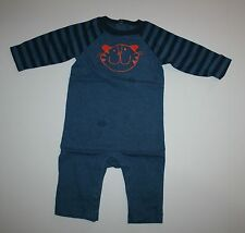 New Gymboree Blue One Piece Outfit Romper 3-6m NWT Daisy and the Tiger Line