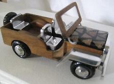 Jeep aus Holz und Aluminium gefertigt, klappbare Frontscheibe ca. 15 cm  #159519