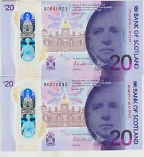 More details for two 2019 bank of scotland bridges £20 banknotes in near mint condition.