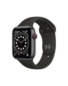Apple Watch Series 6 GPS + Cellular, 44mm Space Grey Aluminium Case with Black S