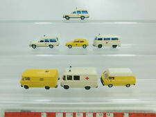 bk70-0,5 #7x WIKING H0/1:87 MODELLO MERCEDES / VW : Ambulanza + posta, S.G