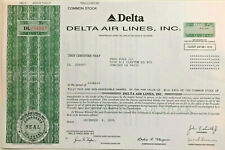 Delta Air Lines > airline stock certificate