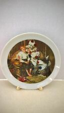 Norman Rockwell Vintage Collectors Circus Clown & Young Boy Plate