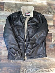 Original LEVI Brown Leather Jacket  | Size Small |