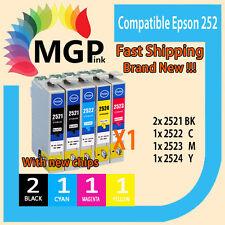 5x Generic Ink  252 for Epson Workforce WF-7610 WF-3620 WF-3640