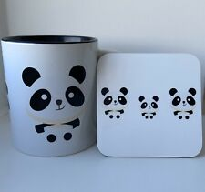 Cute Panda Mug & Coaster - Gift Cup - Free Postage