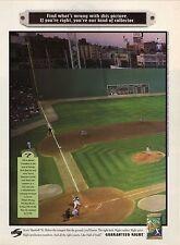 1995 Score Baseball Cards Advertisement--Statue of Liberty/Fenway Park