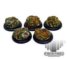 30mm Haunted Forest Inserts x5 - Resin - Malifaux - Warmachine