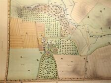 LARGE SURVEY DRAWING, 1868, FOR A FARM CALLED WOODSIDE IN NEWCASTLE CO. DEL.