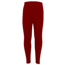 Leggings de niña de 2 a 16 años de color principal rojo
