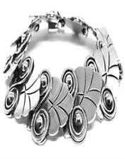 Deco Scroll Bracelet Mexico Taxco Mexican 925 Sterling Silver
