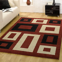 Red Black Small Large Modern Block Box Monte Carlo Thick Quality Soft New Rugs