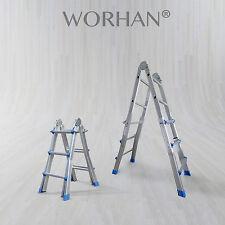 WORHAN® 302cm Ladder Foldable Telescopic Extendable Multipurpose Alu Rigid L3