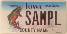 Natural Resources Fish Angler license plate sample Fishing Trout Fisherman Bass