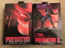 NECA Toys PREDATOR 1 2 movie Ultimate City Hunter + Jungle Hunter 7? Figures NEW