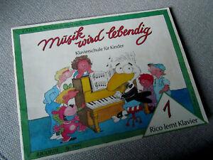 Notenheft: Klavierschule für Kinder, Rico lernt Klavier Band 1