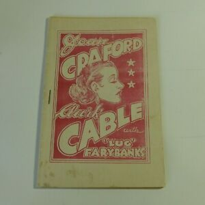 Vintage Original Tijuana Bible Joan Craford Clark Cable Lug Farybanks 16 pg EX