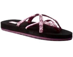 New Women Teva W Olowahu Hazel Magenta Flip Flop Shoe Sandals Size 5