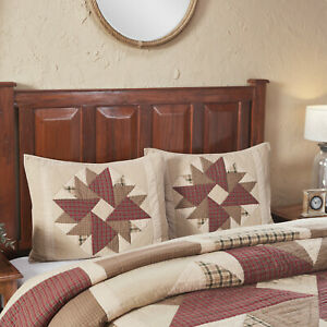 VHC 2 Cider Mill Patchwork Cotton Country Farmhouse Bedding Pillow Shams
