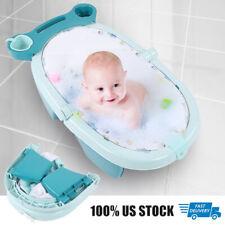 Baby Bath Tub Safety Blue Seat Bathing Newborn Toddler Shower w/Storage block