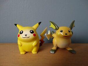 Pokemon Tomy Pikachu and Raichu -1999 Original - First Gen - Vintage Toy