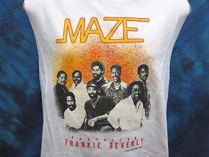 vintage 80s MAZE & FRANKIE BEVERLY CONCERT SWEATSHIRT SMALL sweater t rock tour