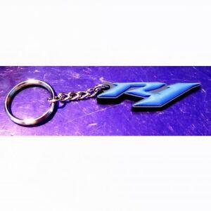 Yamaha R1 3D Soft Rubber Key Ring Keychain YZF-R1 Blue