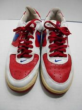 NIKE- AIR FORCE 1 - LOW TOP - RED WHITE AND ROYAL BLUE-  MEN'S SIZE USA 12