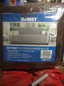 MIghty Monkey Premium Slip Water Resistant X-Large Sofa Protector Choc/Taupe