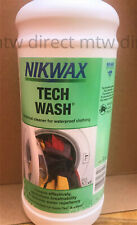 More details for nikwax tech wash wash-in cleaner for waterproof clothing and equipment 1 litre