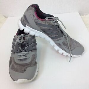 Reebok Women's Gray Sublite Running Shoes Sneakers Size 10