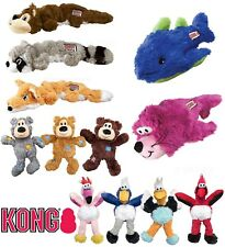 KONG Knots Dog Puppy Toy Soft Plush Squeaky Dogs Toys with Knotted Rope Interior