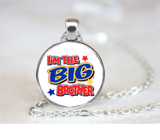 I'm The Big Brother PENDANT NECKLACE Chain Glass Tibet Silver Jewellery
