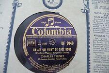 CHARLES TRENET 78RPM UN AIR QUI VIENT DE CHEZ NOUS/ON DANSE A PARIS. LASRY LECA