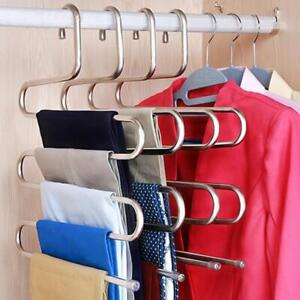5 Layers Stainless Steel Clothes Hangers Multilayer Storage Rack Cloth Hanger