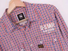 KU2109 G-Star Raw Camisa Vaquero Top Viktor Doble Cuadros Original Premium TALLA