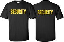 """Security"" T-Shirt Size S-4XL Front/Back event staff party uniform bouncer guard"