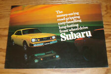Original 1974 Subaru Full Line Sales Brochure 74 GL Coupe Wagon DL Sedan