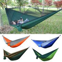 Portable Nylon Parachute Outdoor Camping Hammock Travel Sleeping Hanging Swing