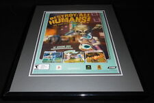 Destroy All Humans 2005 PS2 XBox Framed 11x14 ORIGINAL Vintage Advertisement