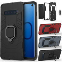 For Samsung Galaxy Note 10 9 S10 Plus Shockproof Stand Case Armor Rugged Cover