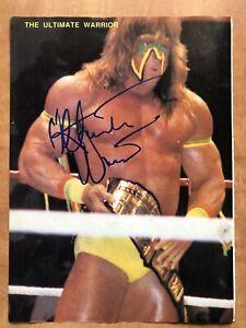 Ultimate Warrior Signed Auto Autographed Magazine Photo WWF WWE
