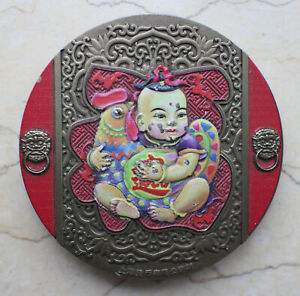 China 2016 60mm Colored Paktong Medal - Flourishing and Wealth Rooster