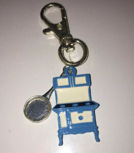 Old Kitchen Cook Stove Blue Charm With Pan On Clip